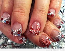 deco ongle gel noel arbre de noël décoration d ongles nail
