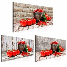 leinwand bild küche gewürze kräuter kunstdruck esszimmer