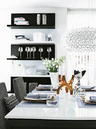 esszimmer in schwarz weiss grautönen bild kaufen