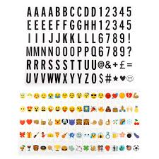 175 Letter Number Emoji Pack Set For Cinematic Plaque A3 A4 Light Up