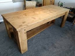 LARGE Wood Dining Table Benches
