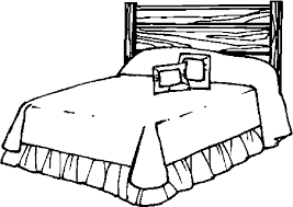 Pin Bed Clipart Coloring Page 1