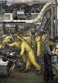 Diego Rivera Rockefeller Mural by Diego Rivera Detroit Industry Murals Boxed Notecards