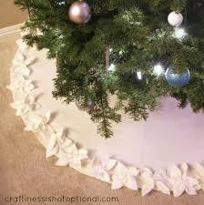 Classy Christmas Poinsettia Tree Skirt