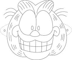 Printable Garfield Mask Coloring Page For KidsFree Online Print Out Template Crafts Kidsfree Activities Worksheets Childrens And