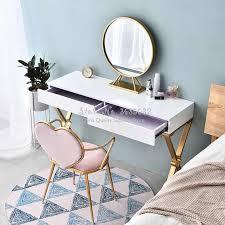nordic kreative rosa esszimmer stuhl eisen gold bein weiche flanell pu herz förmigen stühle nagel kaffee lounge stühle dressing stuhl