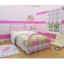 pink twin beds