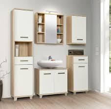 badezimmer komplett set veris 5 tlg badmöbel front weiß hochglanz