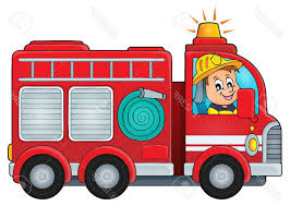 Fantastic Red Fire Truck Clip Art Photos | Vector Graphic, Image And ...