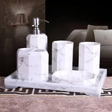 5 oder 6 stücke kurze tinte bad accessary set marmor design harz badezimmer set lieferungen kit waschbecher hochzeitsgeschenke waschen set