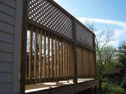 Horizontal Deck Railing Ideas by Aluminum And Maintenancefree From Aluminum Privacy Deck Railing