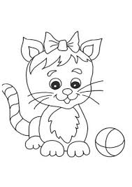 Modest Kitten Coloring Pages Kids Design Gallery