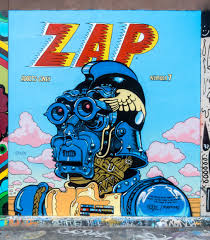 Clarion Alley Mural Project Address by Homage To Zap Comic Artist Street Art Sf