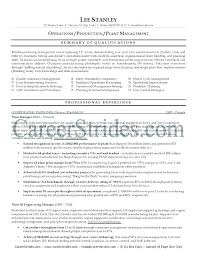 Sample Resume For Production Manager In India Examples Free Resumes