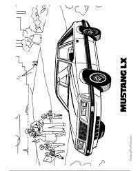 Free Printable Mustang Car Coloring Page