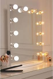 vanity mirror with light bulbs ikea white finish framed golf