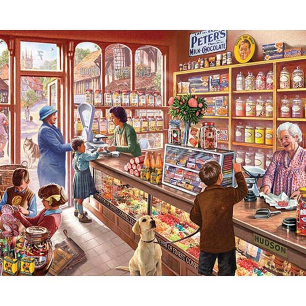 White Mountain Jigsaw Puzzle - Old Candy Shop, 1000pcs