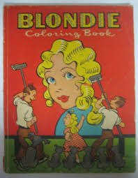 Vintage 1950 BLONDIE COLORING BOOK Whitman Publishing Company Original