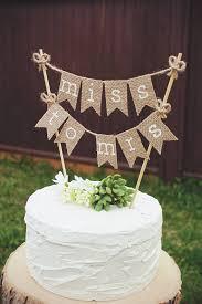 Bridal Shower Cake Topper Bride To Be Burlap Rustic Wedding