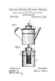 Coffee Percolator Patent Print