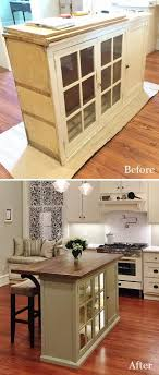 KitchenDiy Rustic Kitchen Island Ideas Makeover For Small Using Old Dresser 99 Unusual Diy