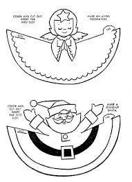 Christmas Crafts For Preschoolers Printables Paper Craft Of An Angel And Santa Print Colour Cu