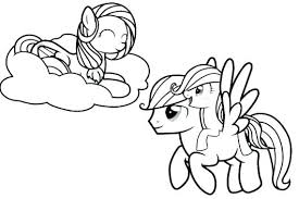 My Little Pony Coloring Page Fluttershy Pages
