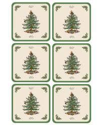 Spode Christmas Tree Mug And Coaster Set by Spode Coasters Set Of 6 Christmas Tree Dinnerware Dining