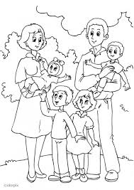 Free Coloring Elegant Pages Of A Family
