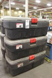 Choice Of Lots: 1055 } Rubbermaid Model Action Packer 48-Gal Heavy ... Rubbermaid 1172 Actionpacker Storage Box 24 Gallon Amazonca Home Truck Bed Under Photo And Media 634 In H X 9 W 183 D 30204770e Trucks Design Fg449600bla Convertible Truck Tool Storage Ideas The New Way Decor Some Nice Deluxe Carry Caddy Online Coat Rack Pictures Modern Twin Sheet Panel Aframe Wcp Solutions Facility Supplies Guide Whosale