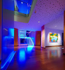 Modern House Hallway Interior With Blue LED Lighting - Choosing The ... Interior Car Lighting Whats On The Market Powerbulbs Truck Lite Led Light 6pc Neon Underglow Accent Kit Campatible With How To Install F150 Interior Ambient Lighting Wireless Control How To Install Lights Custom Club Cars Led Design Wonderful Blue Emergency Quick Ways To Improve Your Advance Auto Parts Interiors Multicolor 4pcs 36 Leds Wireless Remote 8 Steps Pictures Decor