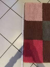 badteppich pink rosa grau ca 67x113cm teppich