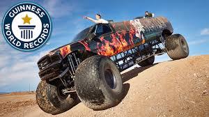 100 Biggest Trucks In The World Video 98 Metrelong Monster Truck Storms Into Guinness