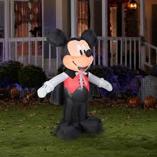 Walmart Inflatable Halloween Cat by 5 U0027 Tall Disney Mickey Vampire Halloween Airblown Inflatable