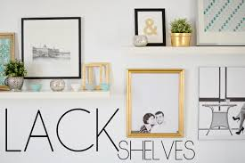 Ikea Lack shelves and a wall with no studs The Vintage Rug Shop