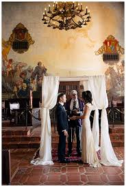 Santa Barbara Courthouse Mural Room by Classy California Courthouse Wedding The Budget Savvy Bride