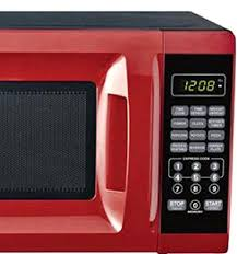 Red Microwave Oven 07 Cubic Foot Child Safe Lockout Feature Kenmore 11