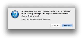 Restore or Reset Jailbroken iPhone or iPad to factory settings