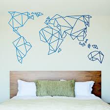 wandtattoo weltkarte groß origami mundi webwandtattoo