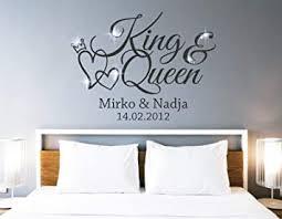 tjapalo pkm462 wandtattoo king wandtattoo schlafzimmer liebe wandsticker schlafzimmer romantisch wandtattoo paare namen und datum farbe