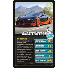Sports Cars Top Trumps Winning Moves UK