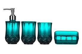 Teal Color Bathroom Decor by Teal Bathroom Accessories Amazon Co Uk