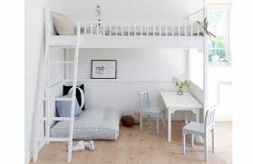 Small Teen Bedroom Furniture Ideas Loft Bed White Writing Table Ladder