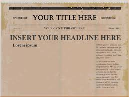 Newspaper Front Page Blank Template Digital Graphics