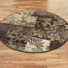 Small Round Bathroom Rugs by Leaf Collage Round Area Rugs