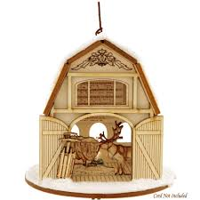 Santa's Reindeer Barn Wood Ornament | U.S. Artisans | Christmas ... Kiss Keep It Simple Sister Pottery Barninspired Picture Christmas Tree Ornament Sets Vsxfpnwy Invitation Template Rack Ornaments Hd Wallpapers Pop Gold Ribbon Wallpaper Arafen 12 Days Of Christmas Ornaments Pottery Barn Rainforest Islands Ferry Coastal Cheer Barn Au Decor A With All The Clearance Best Interior Design From The Heart Art Diy Free Silhouette File Pinafores Catalogs
