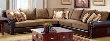 Rustic Sectional Sofa With Search Leather