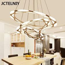 luxury modern chandelier led circle ring chandelier light for