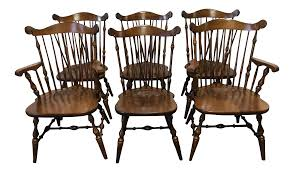 Temple Stuart Rockingham Windsor Dining Chairs -Set Of 6 | Chairish