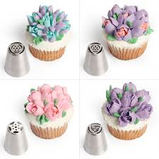 Cakes Decorated With Russian Tips by Amazon Com Russian Piping Tips 8 Tools Set 12 Bags Coupler